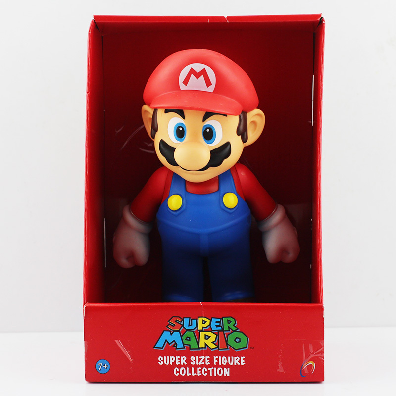 Free Shipping Super Mario Figure With Box Mario Yoshi Luigi Koopa Bowser Toad Action Figure Toy PVC Dolls 1