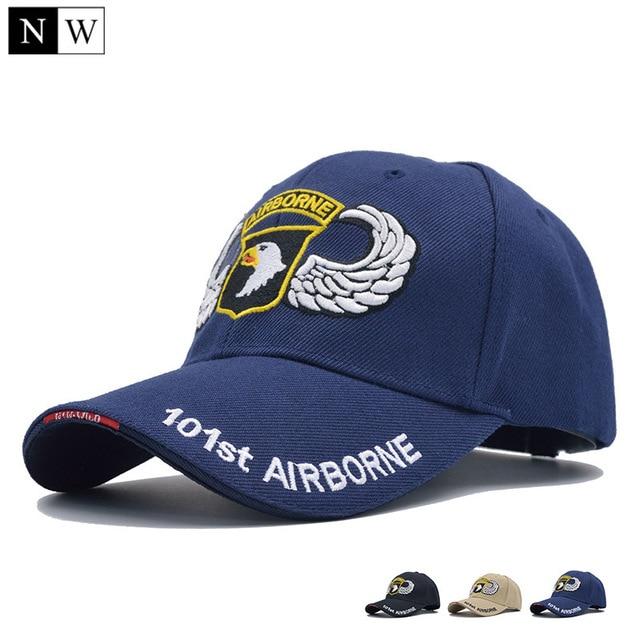 a85551994c8  NORTHWOOD  High Quality 101st Airborne Division Baseball Cap Men US Army  Cap Dad Cap AIR FOREC Sport Tactical Cap Bone Snapback