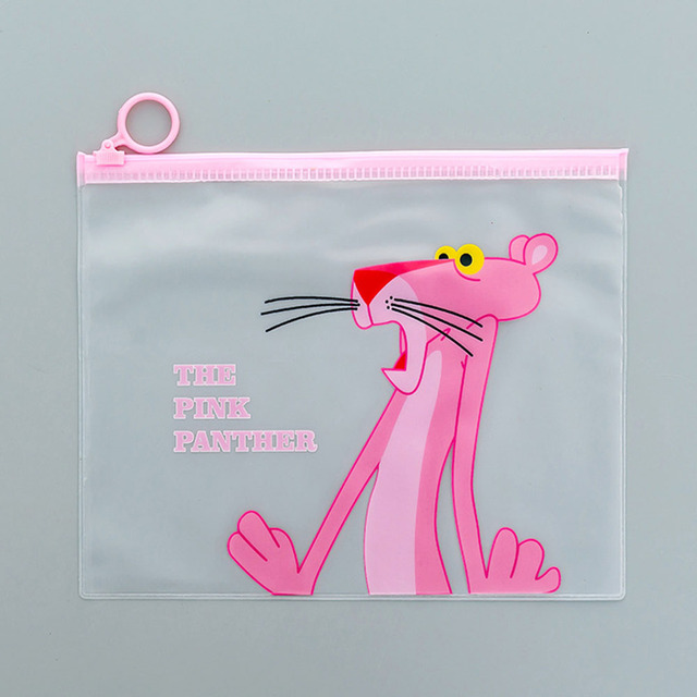 Cute Pink Leopard Unicorn Transparent Travel Cosmetic Bag Make Up Case Makeup File Bag Women Organizer Toiletry Storage Kit Box Cosmetic Bags