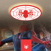 NEO Gleam Spiderman Red Color Modern Led Ceiling Lights For Study Room Children Kid S Room