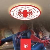 NEO Gleam Spiderman Red Color Modern Led Ceiling Lights For Study Room Children Kid S Room