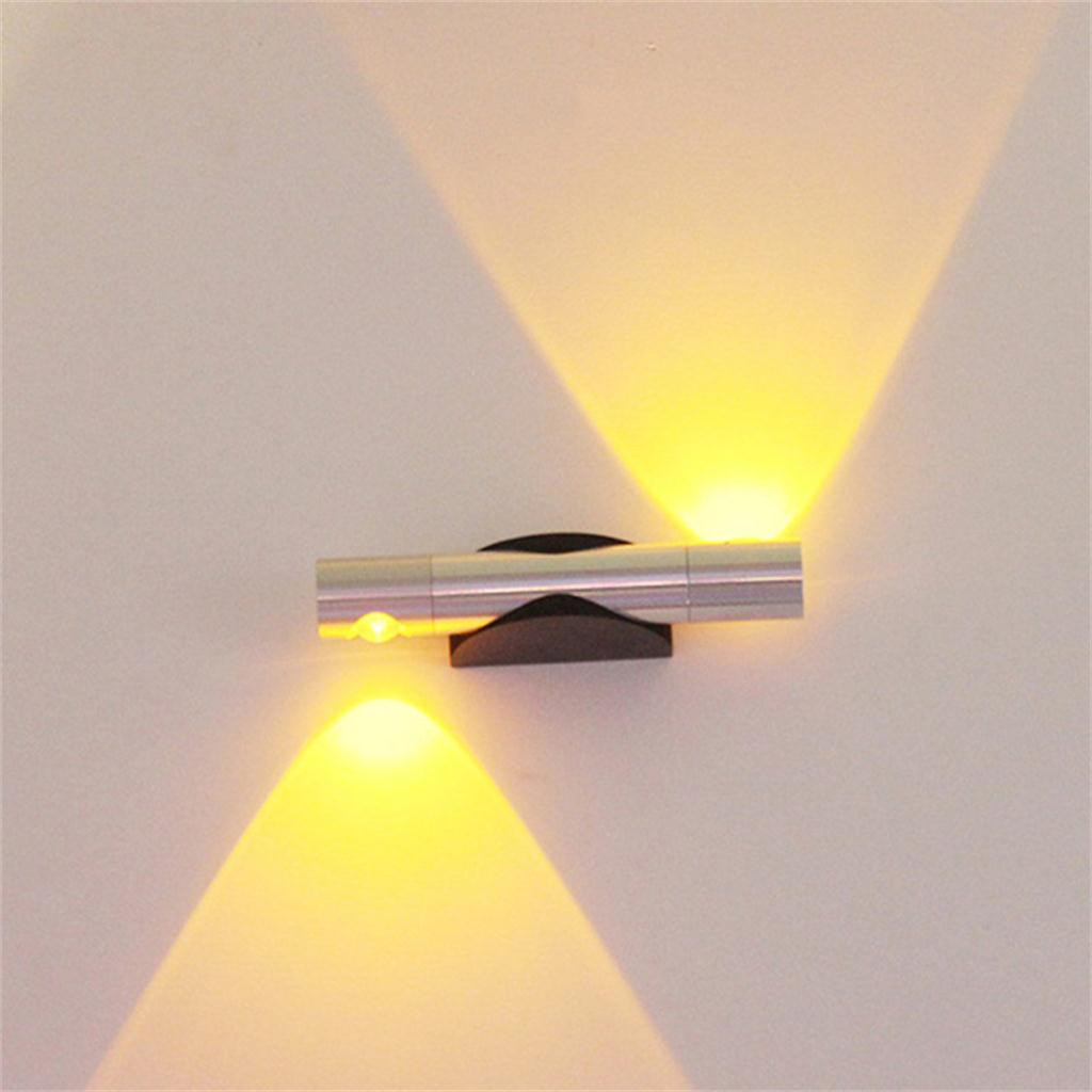 1 Pc Led Wandlamp Moderne Schroef Led Verstelbare Dubbele Gead Verlichting Roterende Blaker Gang Wandlamp Ac 90- 260 V Muur Lampen