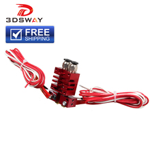 3DSWAY 3D Printer Parts Improved E3D Chimera 2 In Out Hotend Kit with Thermistor and Cartridge Heater Red Color 0.4mm/1.75mm