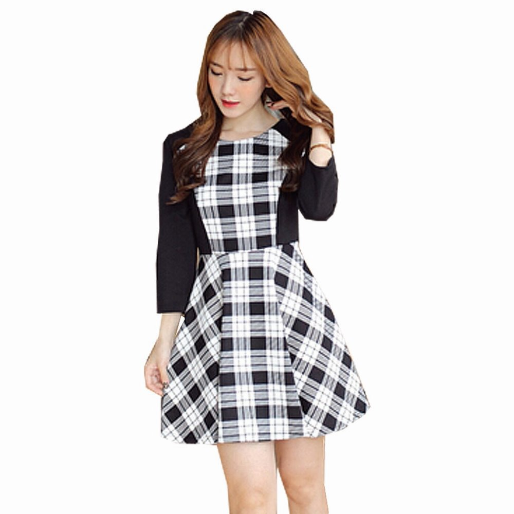 Hot sale False Two Piece Plaid Nursing Dress Breastfeeding Clothes Maternity Dresses plus size  Slim casual Elegant Slim Clothin hot sale spring autumn long sleeved nursing dress maternity nursing clothes elegant slim breastfeeding clothing nursing clothin