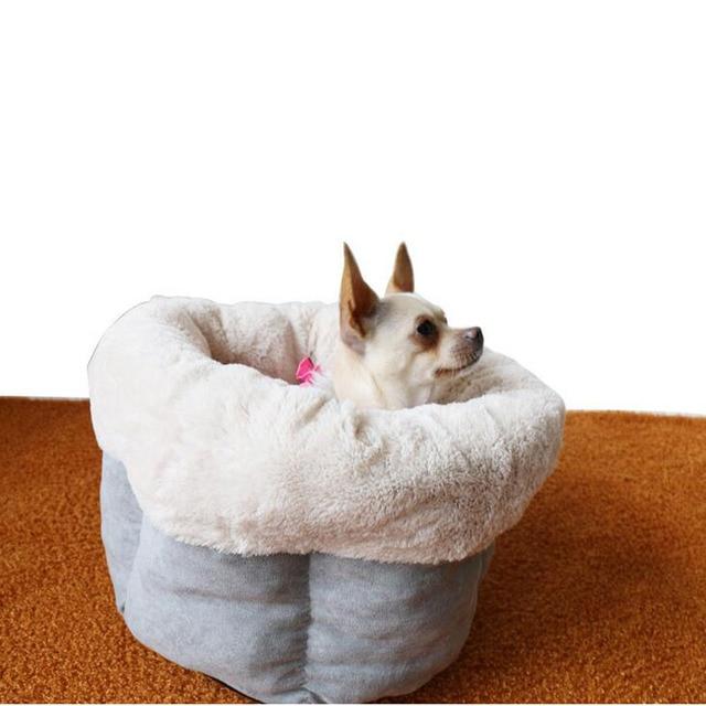 Dog House Beds Hexagonal Pumpkin Pet Nest Autumn Winter Warm House Kennel Cat Dog Pets Beds Supplies