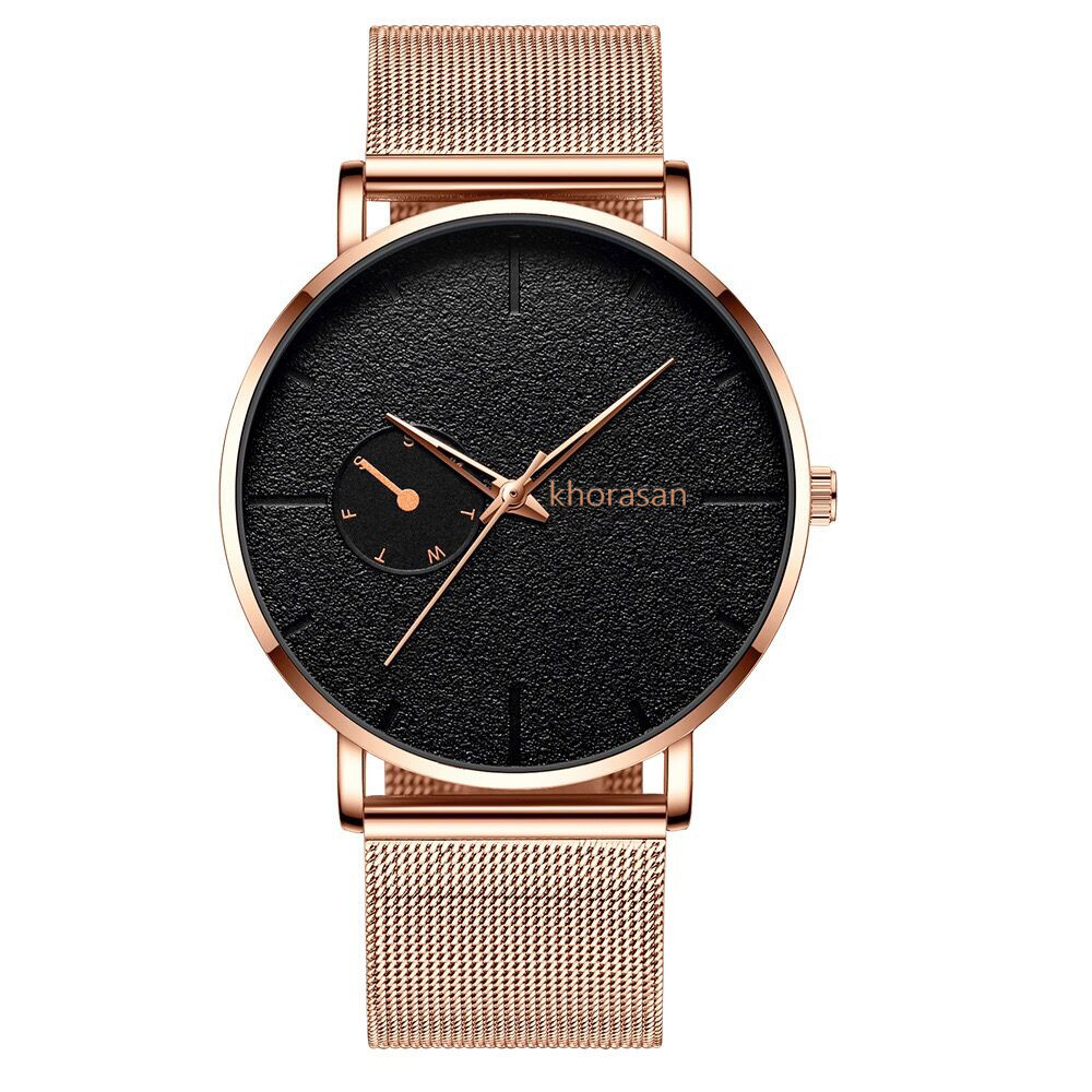Gold Men Quartz Watch High-end Stainless Steel Band Life Waterproof Watch male clock Relogio Masculino for droshipping Watches
