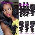 7A Peruvian Virgin Hair Body Wave With Closure rosa hair products peruvian body wave with closure 4 bundles with 1 lace closure
