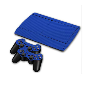 Image 2 - Carbon Fibre Vinyl Skin Sticker For Sony PS3 Super Slim 4000 Console and 2 Gamepad Controller Skins Cover Controle Skin