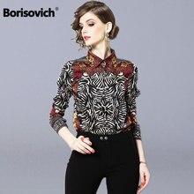 Borisovich Women Casual Print Blouses Shirts New Brand 2019