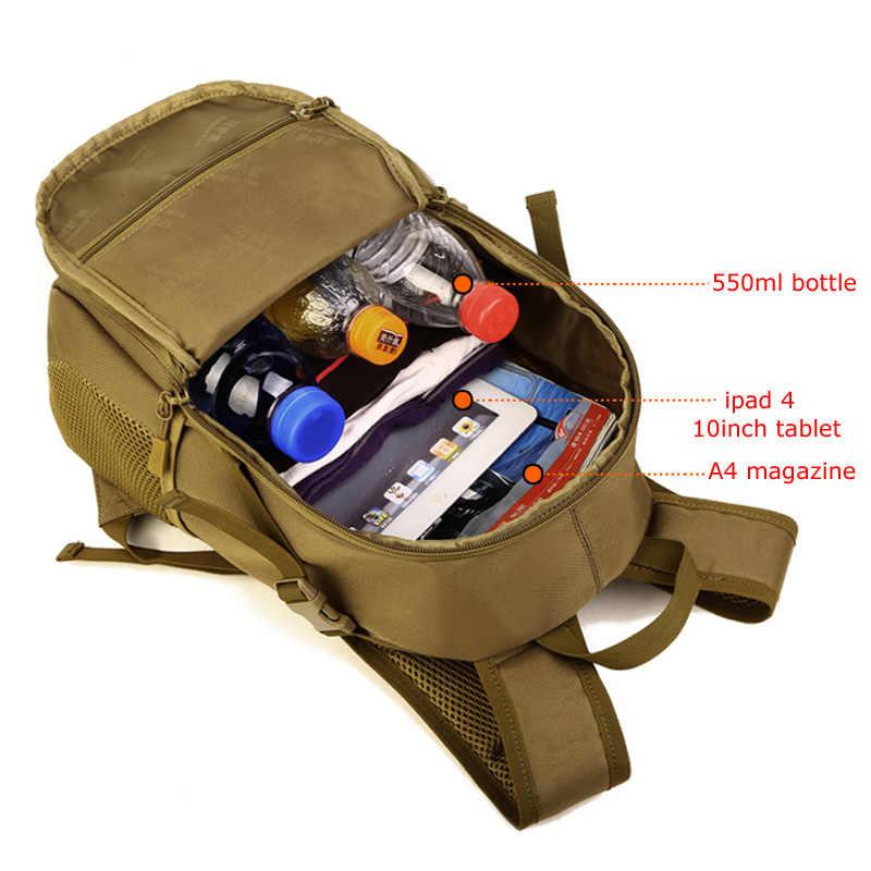 Protector Plus 12L MolleTactical Kleine Rucksack, Wasserdichte Mini Militär Rucksack, Outdoor Sport Reise Rucksack taschen für kinder