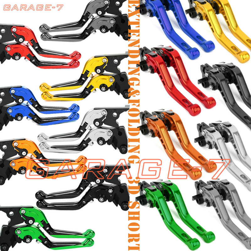 For Yamaha MT-09/SR/FZ9 2014-2016 / XJ6 DIVERSION 2009-2016 Folding&Extending/3D CNC Adjuster Short Clutch Brake Lever Set 2 PCS