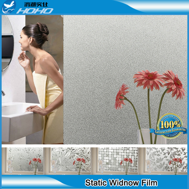 Static Cling Window Film 3ftx16.5ft Stained Glass Paper Decorative Frosted Vinyl Wholesale Price BZ121-001