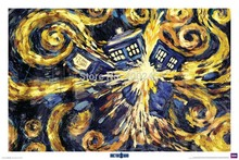 Oil painting ,Doctor Who - Exploding Tardis, Wall art painting,Abstract canvas,Home Decor ,100%handmade,High QUALITY,Free shippi