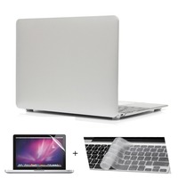 For Macbook Air 11 13 Case Metalish Color Rubberized Matte Snap On Skin Case With Clear