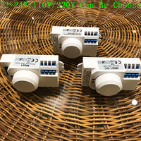 New Arrival 12v 110v 220v 360 Degree Microwave Sensor Light Switch Induction Microwave Motion Sensor Pir