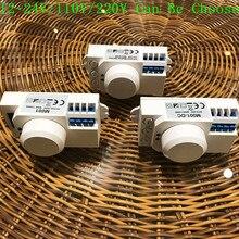 Hàng Mới Về 12V/110V/220V 360 Độ Cảm Biến Vi Sóng Công Tắc Đèn Cảm Ứng Vi Sóng Motion Cảm Biến pir Motion Cảm Biến