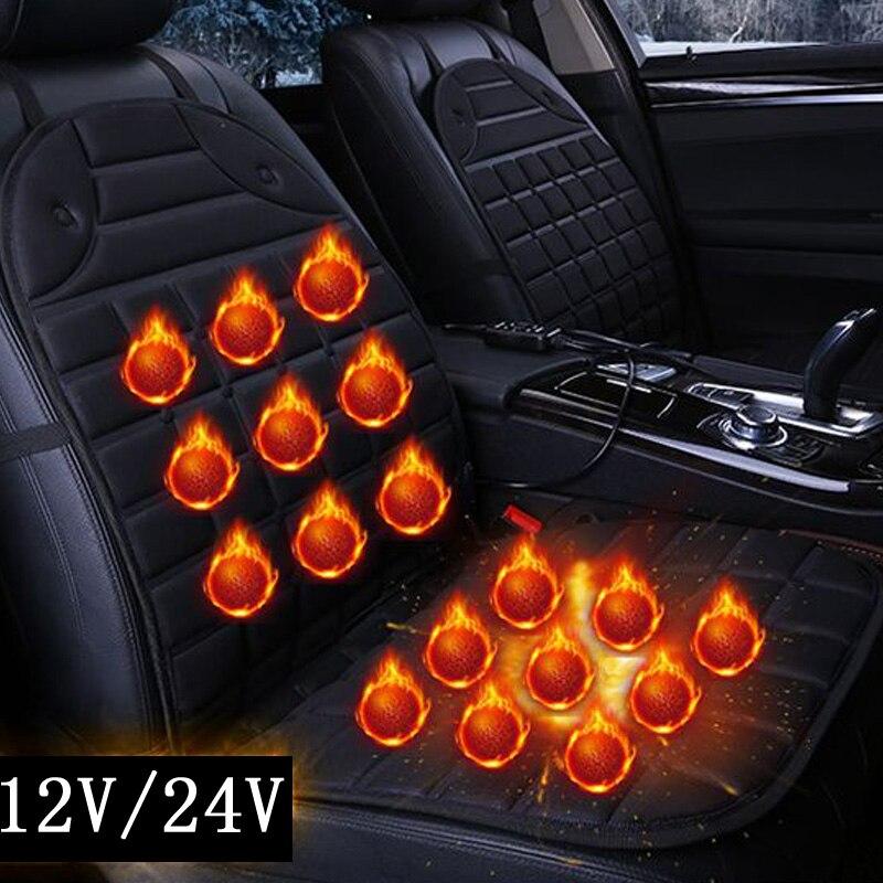 2018 individual/par 12 V cojines eléctricos calefactados para el cojín del asiento del coche de calefacción de invierno, mantener la cubierta caliente del asiento del coche garantía de calidad