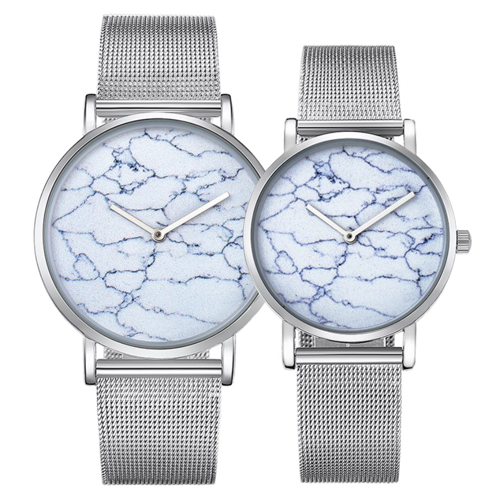 CAGARNY Brand Watches Silver Steel Bracelet Strap Watch Men Ultra Thin Watchband Fashion Women Lovers Gift Wristwatch Hot Sale