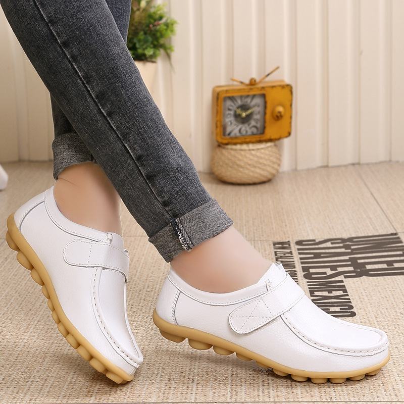 Women Flats Pointed Toe Mocasines Rubber Lady Comfortable Soft Leather Walking Female Slipony Oxford Large Size Loafers Shoes women ladies flats vintage pu leather loafers pointed toe silver metal design
