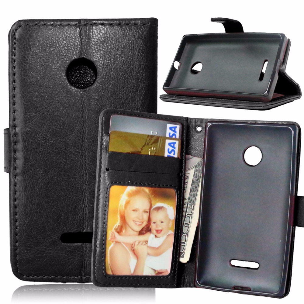 Phone Case For Microsoft Nokia Lumia 435 Luxury Flip Stand 532 Leather Cover Wallet Original Back Covers