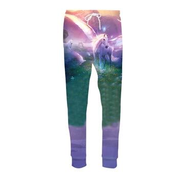 Fashion Casual Harem Pants Men Jogger Drawstring Trousers Anime Dream Unicorn 3D Print Sweat Pantalon Hip Hop Fitness Sweatpants