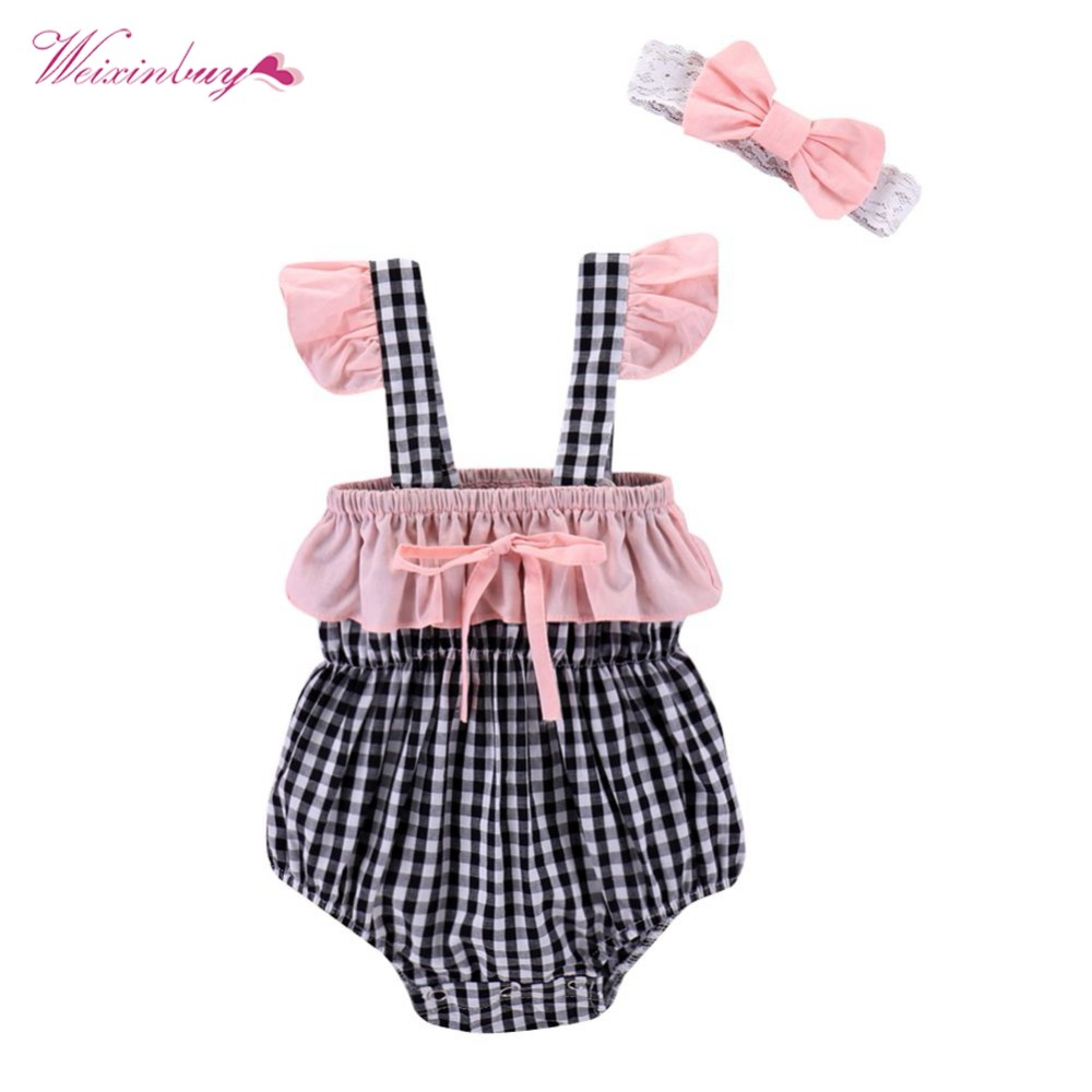 WEIXINBUY Cotton Newborn Infant Kids Baby Boy Girl Set Floral Printed Toddler Kids Clothes 0-24M