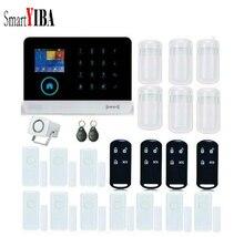 SmartYIBA Home Intelligent GSM GPRS Wifi Alarm System Security Door Sensor  Infared Detection Alarm WIFI Wireless Alarma Kits