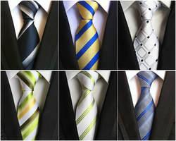 8 см проверьте темно-зеленый сине-белые красный жаккард Woven 100% шелковые галстуки Для мужчин s шеи галстук Полосатые Галстуки для мужской