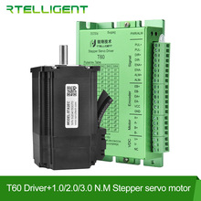 Rtelligent Nema 23 Stepper Motor with Encoder Nema 23 24 Closed Loop Stepper Motor Driver Easy Servo Driver with 2.2m Free cable