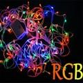 Luzes do feriado 10 m 100 LED Energia Cordas Jardim Festa de Natal Fada Luz Cordas Natal Garland Iluminação Tiras Luces Casa