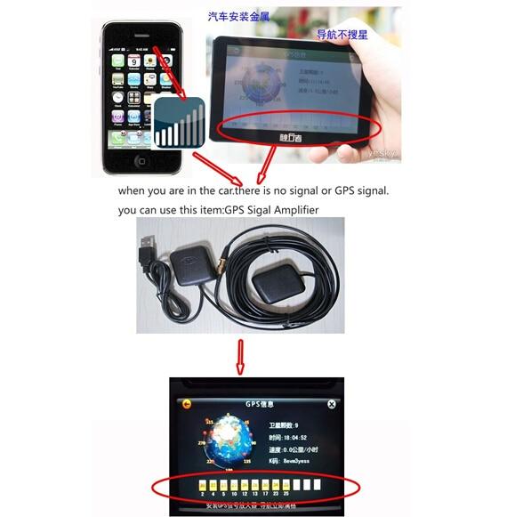 Voiture Externe USB Antenne 30DB GPS Signal Amplificateur Récepteur Répéteur pour Automobiles GPS Navigation récepteur
