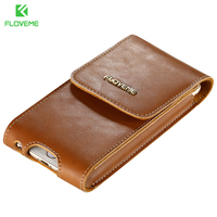 FLOVEME Luxury Genuine Leather Case For IPhone 7 6 Plus Samsung Galaxy S6 S6 Edge S7