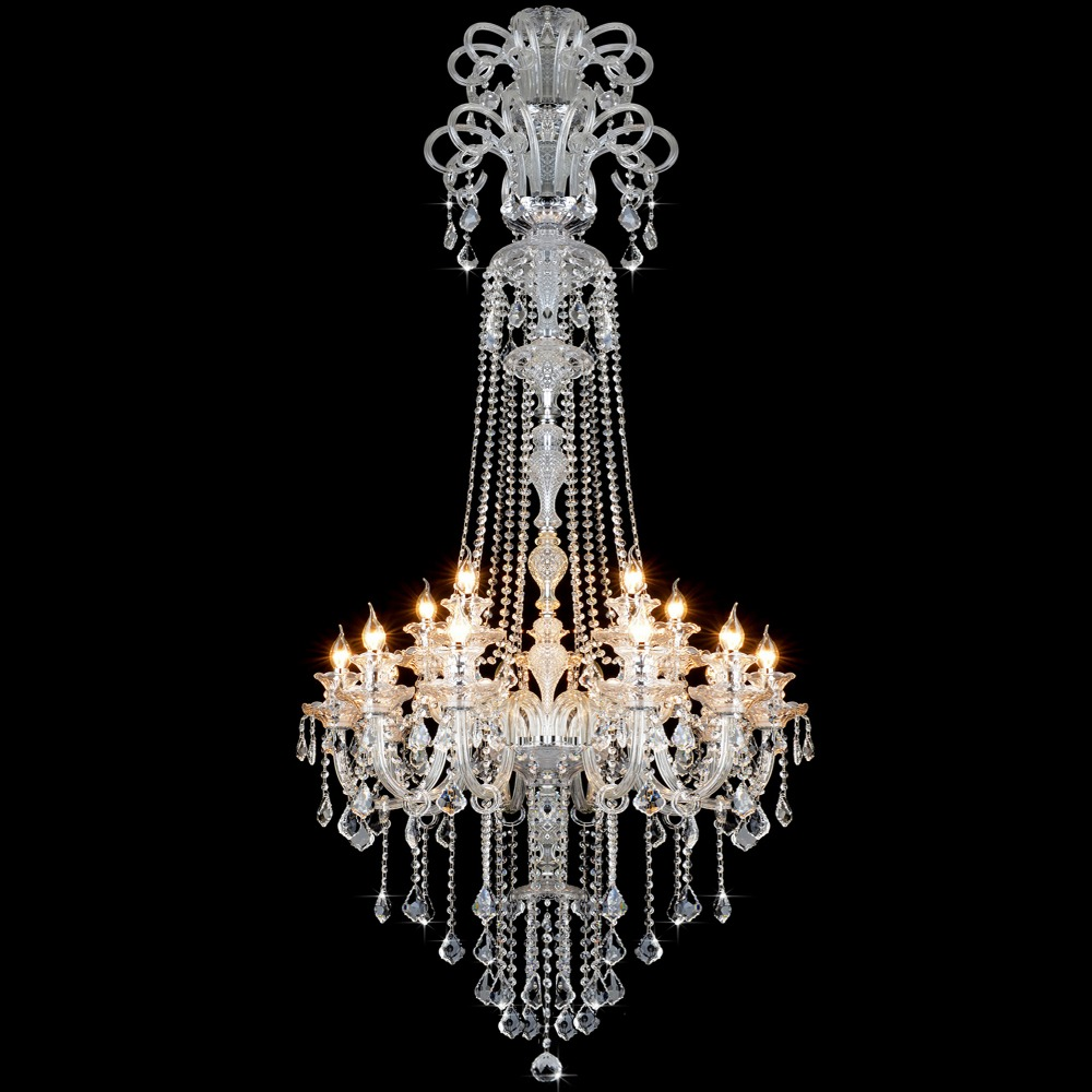 Elegant crystal chandelier modern large crystal chandelier for elegant crystal chandelier modern large crystal chandelier for living room large modern chandeliers foyer lighting fixtures in chandeliers from lights arubaitofo Choice Image