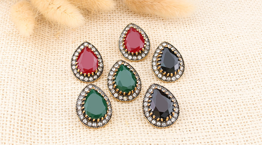 HTB1qYV.OVXXXXbJXXXXq6xXFXXXZ - Indian Jewelry Designer Fashion Earrings For Women Water Drop Green Resin Sale Wholesale Jewellery Mixed Lots