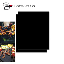 drop shipping 1pc PTFE Non-stick BBQ Grill Mat Barbecue Baking Liners Reusable Teflon Cooking Sheets 40 * 30cm Cooking Tool
