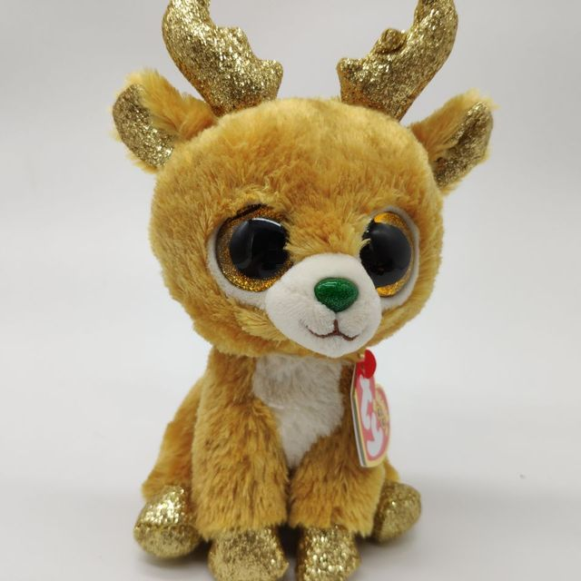 glitzy reindeer TY BEANIE BOOS collection 1PC 15CM Plush Toys Stuffed  animals soft toys buddly toys 20bb5f1577c7