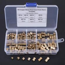 150Pcs Brass Thread Insert Nut w/ Box knurled nuts M3 insert Knurl Insert Nuts Assortment Kit Threaded insert nut Set Hot Sale цена в Москве и Питере