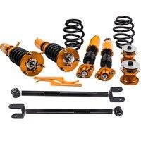 Adjuatable Coilover Suspension Shocks for BMW E46 20i 323i 323Ci 325i Adj Height 98 99 00 01 02 Spring Strut camber control arm