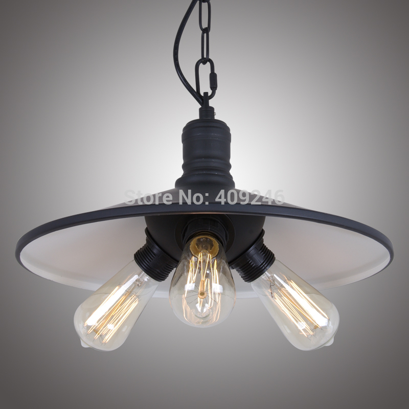 Industrial Black Edison RH Loft droplight Ceiling Lamp Pendant For Clothing Shop Cafe Bar Hall Dining Room nordic vintage loft industrial edison spring ceiling lamp droplight pendant cafe bar hanging light hall coffee shop store