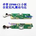 Zopo zp980 original del usb bordo cargo enchufe conector de micrófono con vibrador motor piezas para zopo c2 smartphone envío gratis
