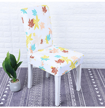 Butterfly Printing Dining Chair Cover Spandex Elastic Protector Slipcover Removable Dustproof Decorative Seat Case