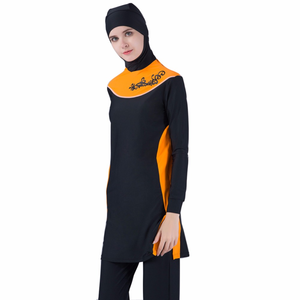 Мусульманские купальники Исламская Купальные костюмы пляж купальники для женщин 4 шт./лот DHL