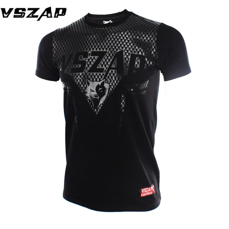 VSZAP Boxing MMA T Shirt Gym Tee Shirt Fighting Fighting Martial Arts Fitness Training Muay Thai T Shirt Men Rashgardy