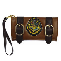 Harry Potter Hogwarts Castle Crest Envelope Satchel Fold Wallet Purse HASP Long Lady Wallets
