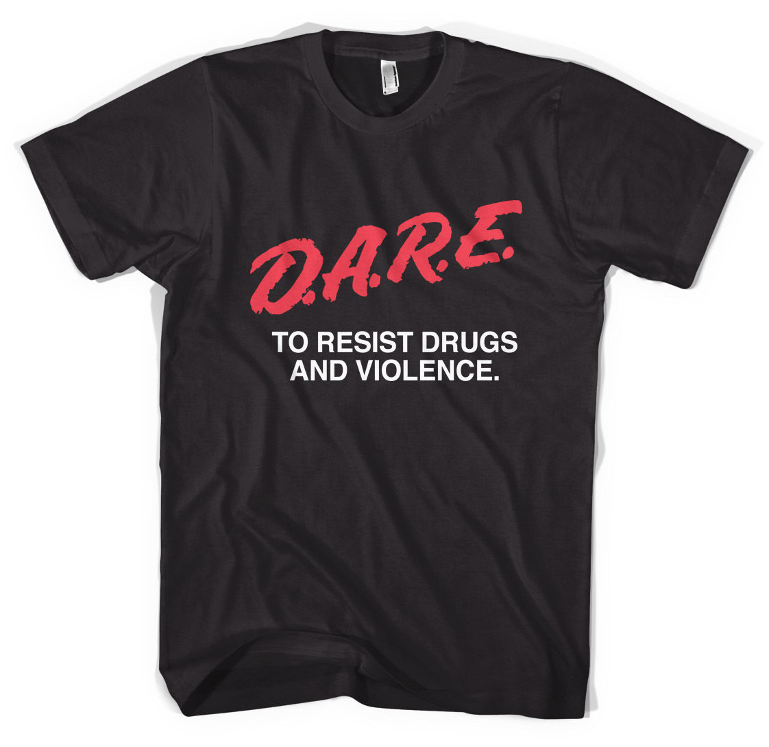 D A. r.e anti-drugs Unisex Camiseta Todas Las Tallas Negro ...