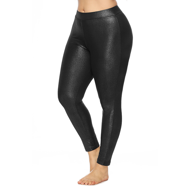 2019 XL-5XL Women Plus Size Pants Spring Elastic Stretch High Waist Warm Bodycon Slim Trousers Shining Party Wear Female Elegant