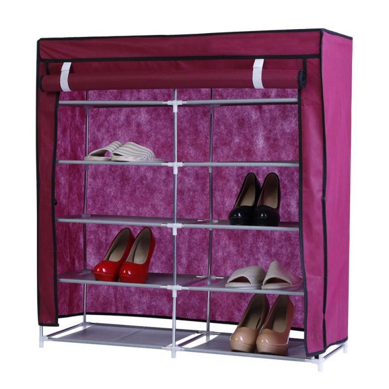 Phenomenal Double Side Shoe Shelves Canvas Shoe Stool Storage Wardrobe Beatyapartments Chair Design Images Beatyapartmentscom