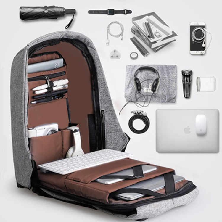 Рюкзак с защитой от кражи, usb-зарядка, мужской рюкзак для путешествий, водонепроницаемая школьная сумка, мужской рюкзак для подростков, рюкзак для ноутбука