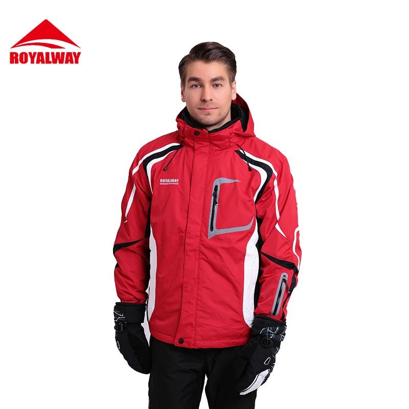 ROYALWAY Free Shipping New Men Skiing Jackets Reflective Outdoor Warm Snowboard Jacket C ...