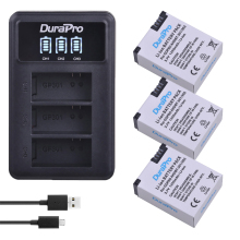 3pc 1250mAh AHDBT 301 AHDBT 302 Rechargeable Battery LED 3 Ports Charger for AHDBT 301 302